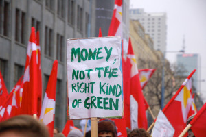 Money not the right kind of green.
