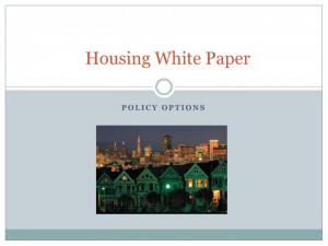 Example Housing White Paper. Graphic supplied by author