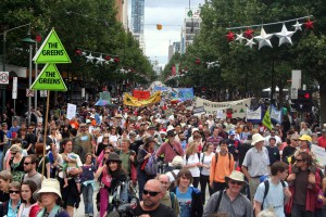 Climate rally in Melbourne, 2009.