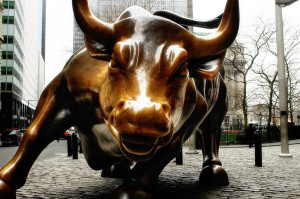 The Charging Bull on Wall Street. Image: https://www.flickr.com/photos/thespeakernews/15878758562